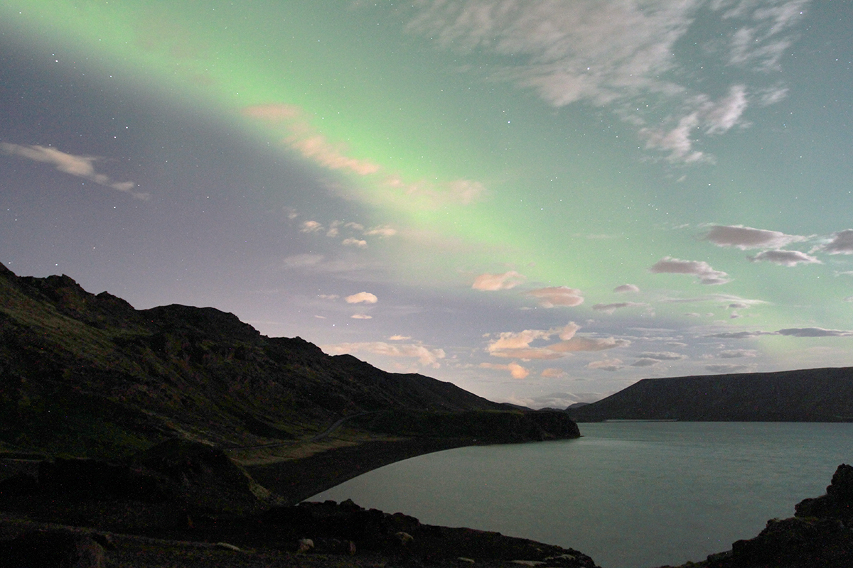 Northtern Lights at Kleifarvatn Iceland, ThuleTravel