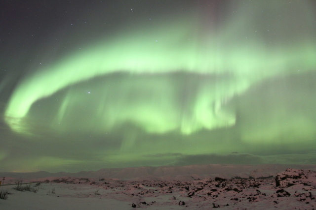 Northern Lights in Icleand on a bautiful winter day, ThuleTravel Iceland