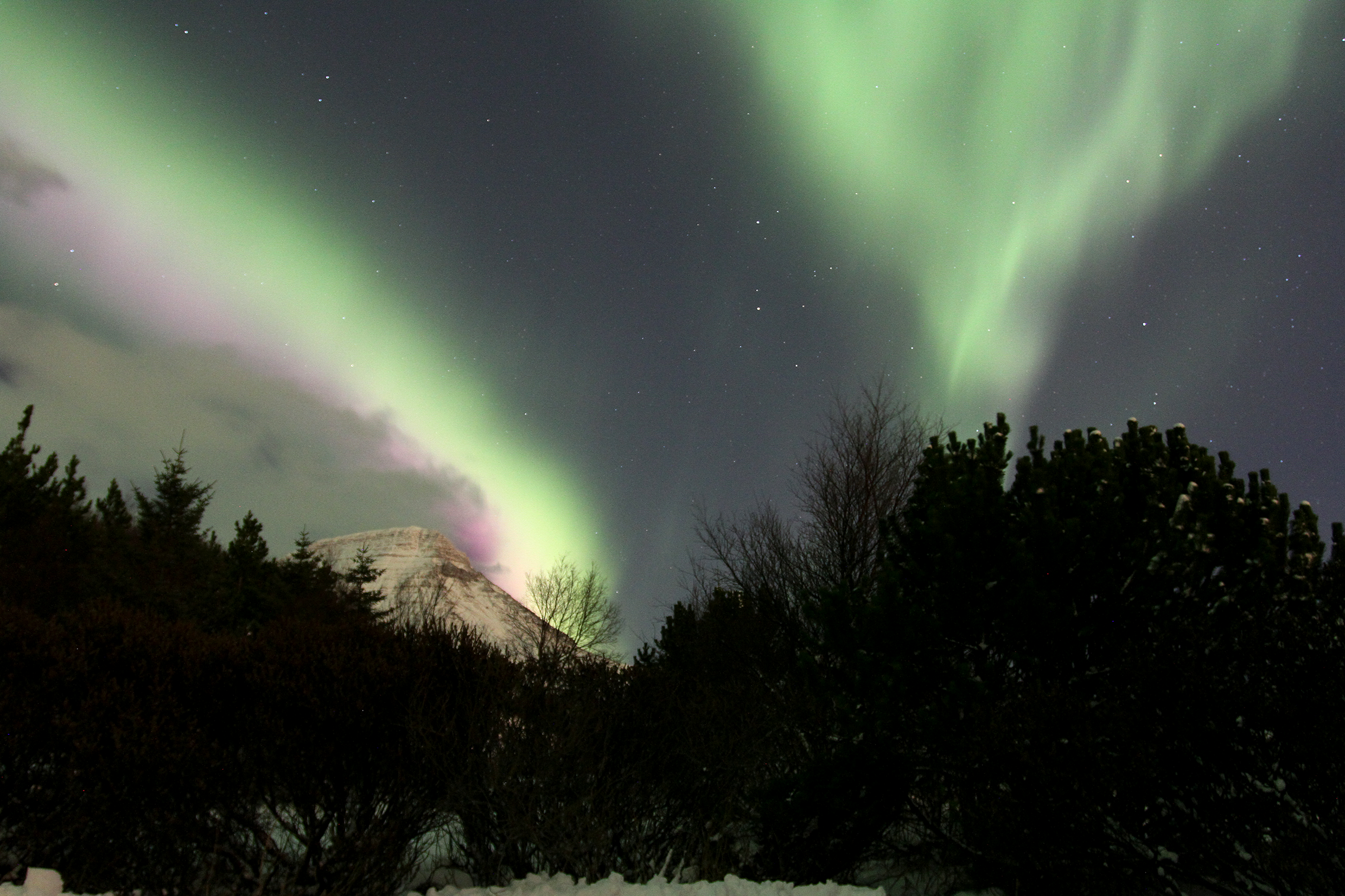 Northern Lights at Esjan in Iceland