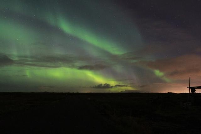 Nortern Lights in Hafnarfjörður Iceland, ThuleTravel 2017