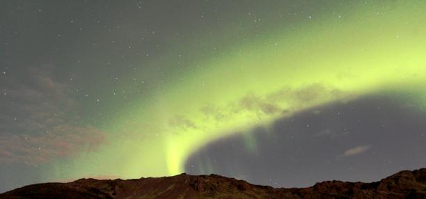 Northtern Lights at Hafnarfjörður Iceland